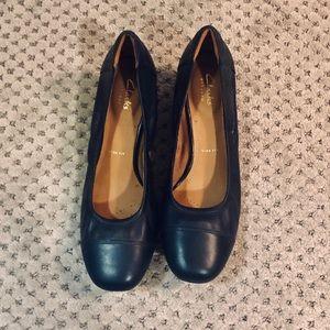 Clark's Navy Blue Low Heel